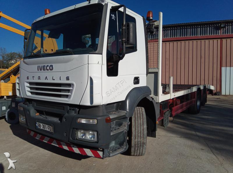 camion iveco porte engins stralis 310 6x2 gazoil euro 3 occasion n 2349278. Black Bedroom Furniture Sets. Home Design Ideas