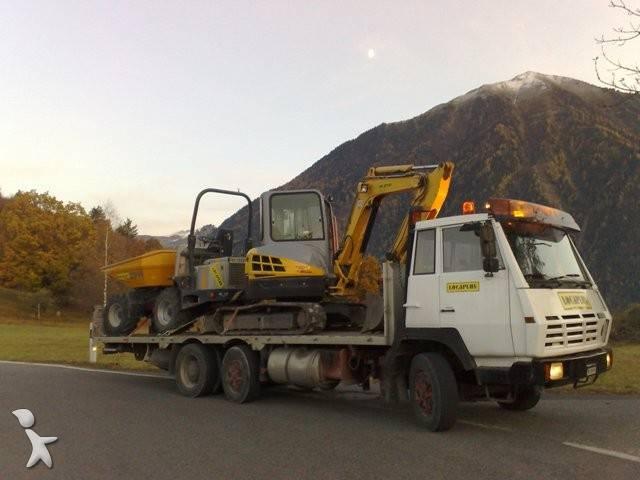 camion man porte engins 6x2 euro 1 occasion n 236820. Black Bedroom Furniture Sets. Home Design Ideas