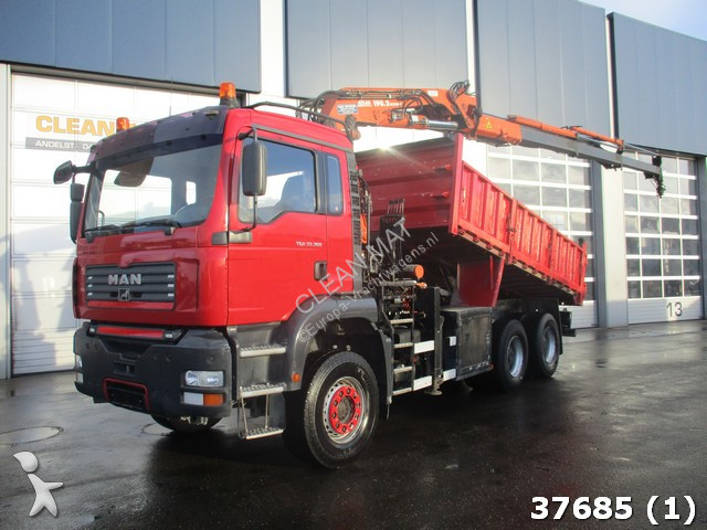 used man tga tipper truck 6x4 diesel euro 3 crane. Black Bedroom Furniture Sets. Home Design Ideas