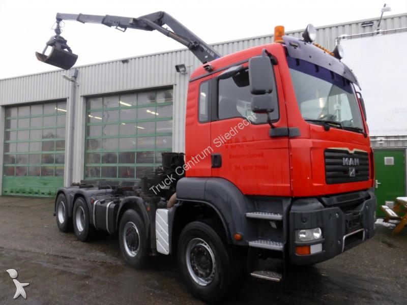 Camion man porte containers tga 8x6 gazoil euro 4 - Camion porte container avec grue occasion ...