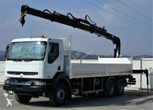 camion Renault Kerax 370 Pritsche 7,50 m + KRAN 6x4!
