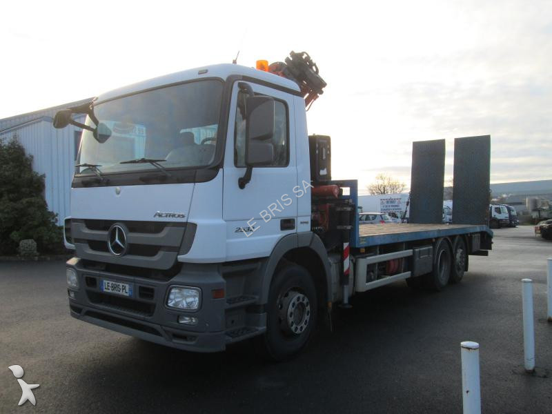 camion mercedes porte engins actros 2532 nl 6x2 gazoil euro 5 grue occasion n 2416171. Black Bedroom Furniture Sets. Home Design Ideas