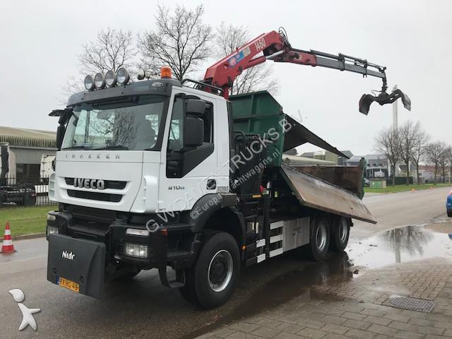 Tweedehands vrachtwagen iveco tweezijdige kipper 380 t 41 for Vrachtwagen kipper met kraan