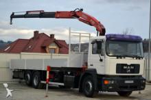 vrachtwagen MAN FE 360A Pritsche 8,20 m + KRAN * 6x2!