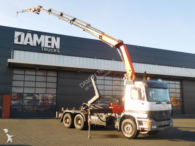 Camion mercedes porte containers actros 2635 6x4 gazoil - Camion porte container avec grue occasion ...
