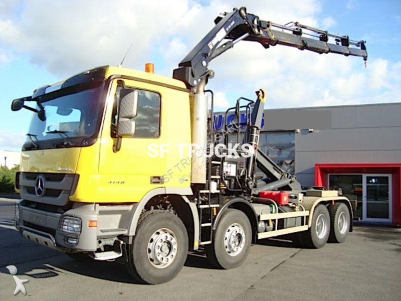 Tweedehands kraan met kipper mercedes actros 4148 8x4 for Vrachtwagen kipper met kraan