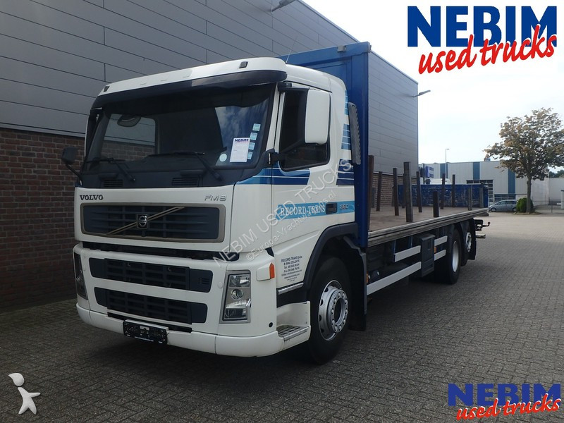 used volvo fm9 flatbed truck 260 6x2 diesel euro 3 crane. Black Bedroom Furniture Sets. Home Design Ideas