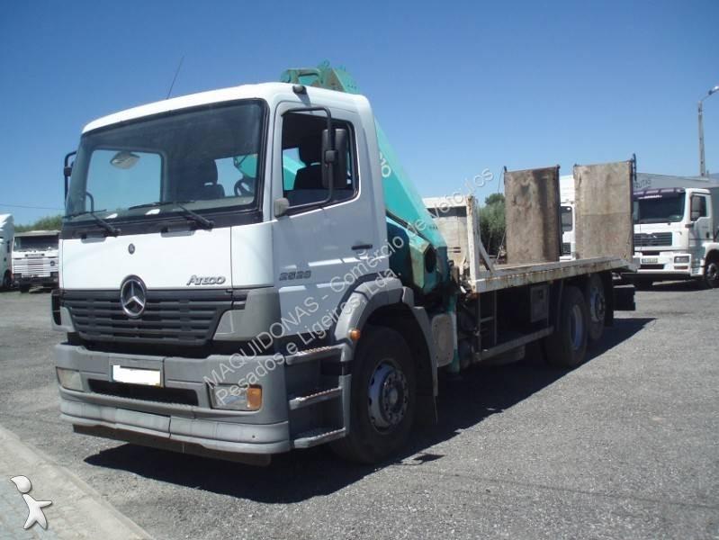 camion mercedes porte engins atego 2528 gazoil euro 3 grue occasion n 2470298. Black Bedroom Furniture Sets. Home Design Ideas