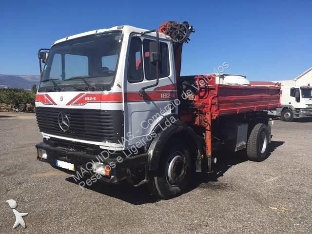 Tweedehands vrachtwagen mercedes kipper 1824 diesel euro 0 for Vrachtwagen kipper met kraan