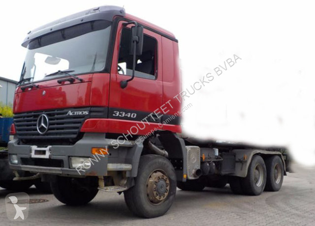 Used Mercedes Actros chassis truck 3340 AK 6x6 3340AK 6x6 Chassis 6x6  Diesel Euro 2 - n°2481503