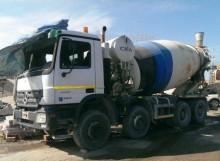 damaged concrete mixer truck