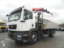 MAN TG-M 18.290 4x2 2-Achs Kipper Kran 11m/to., Grei truck