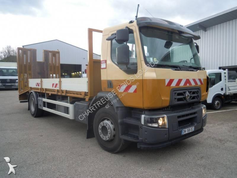 camion renault porte engins gamme c 280 euro 6 occasion n 2535514. Black Bedroom Furniture Sets. Home Design Ideas