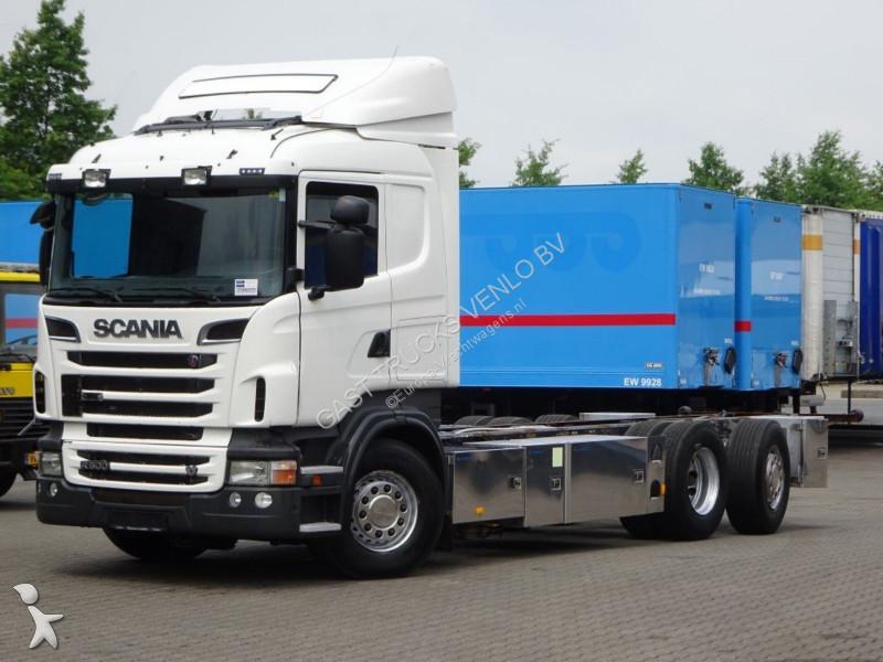 camion scania ch ssis r500 v8 6x2 4 euro 5 manual retarder 6x2 gazoil euro 5 occasion n 2538317. Black Bedroom Furniture Sets. Home Design Ideas