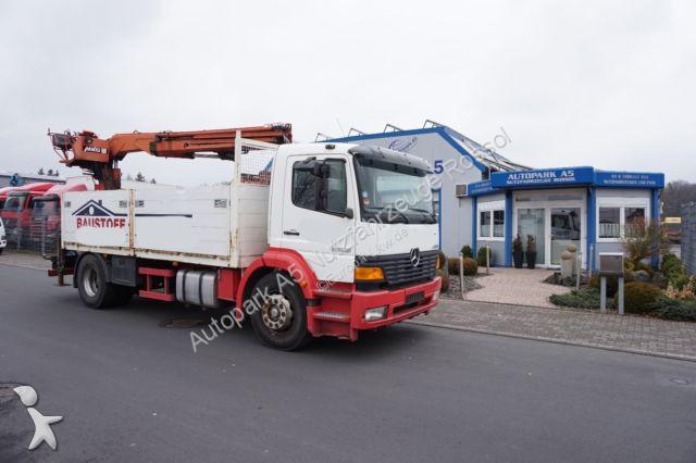 Rub Baustoffe used mercedes dropside truck 1828 baustoff pritsche mkg 125 kran 4x2