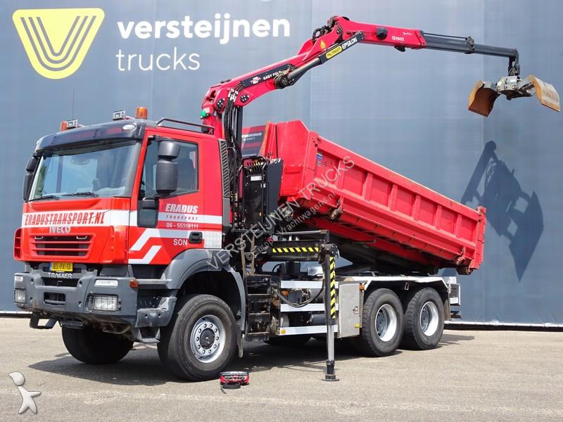 Camión Iveco 380T45 / / KRAAN + CONTAINER SYSTEEM