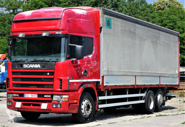 View images Scania 124L 400 Pritsche + Plane 8,80 m Top Zustand truck