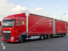 DAF XF - 460/6X2/TANDEM PRZEJAZDOWY 120M3/7,75 M/EUR 6 + remorque truck