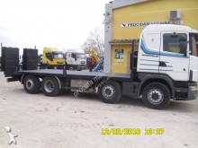 Scania heavy equipment transport truck