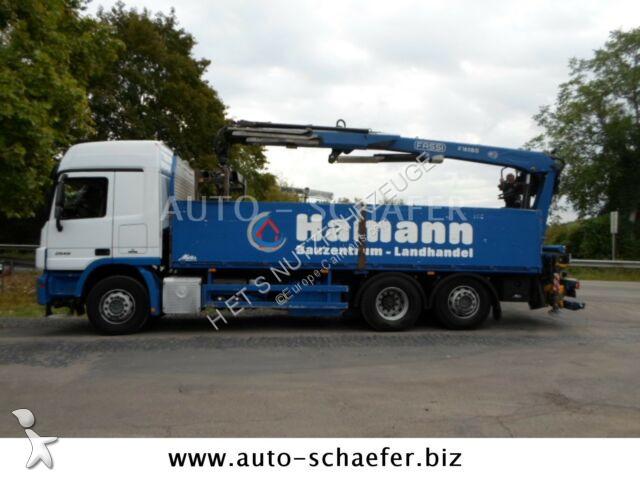 Camion Mercedes 2546/6x2/ Baustoff/ FASSI 185