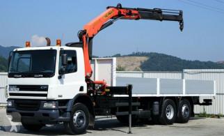 DAF CF 75.310 Pritsche 7,50 m + KRAN / 6x2! truck