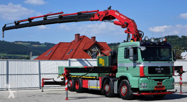 MAN TGA 35.480 Pritsche 6,40 m + KRAN Fassi 600! truck