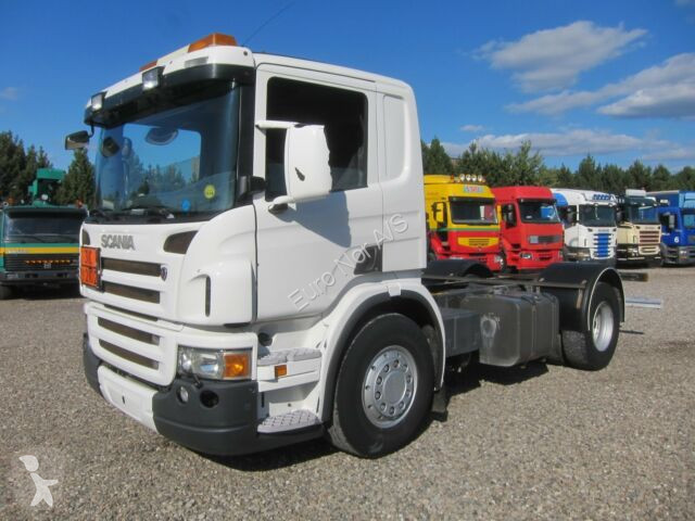 Used Scania trucks chassis 4x2 Left-hand drive low bed Automatic  transmission
