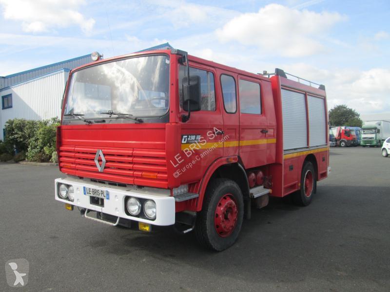 camion pompiers occasion renault gamme g 230 gazoil annonce n 2863113. Black Bedroom Furniture Sets. Home Design Ideas