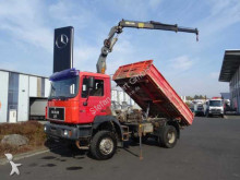 camión MAN 19.403 (F2000) 4x4 Meiller Kipper/Kran + Funk