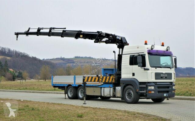 View images MAN TGA 28.350 Pritsche 6,30m +Kran*Top Zustand! truck