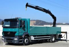camion Mercedes Axor 1828 Pritsche 7,40 m + KRAN