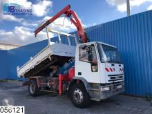 camion Iveco 150E23 Manual, Steel suspension, Plafinger crane