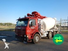 Scania concrete mixer + pump truck concrete truck