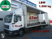 camion MAN TGL 12.180 Schiebeplane 7.30m lang 47m³ LBW1.5t.