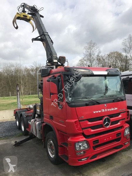 Camion Mercedes 33.60 +HIAB HOLZTRANSPORT