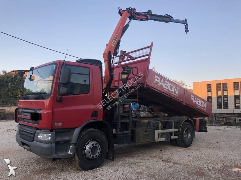 camion daf benne cf 310 4x2 euro 5 grue occasion n 2971579
