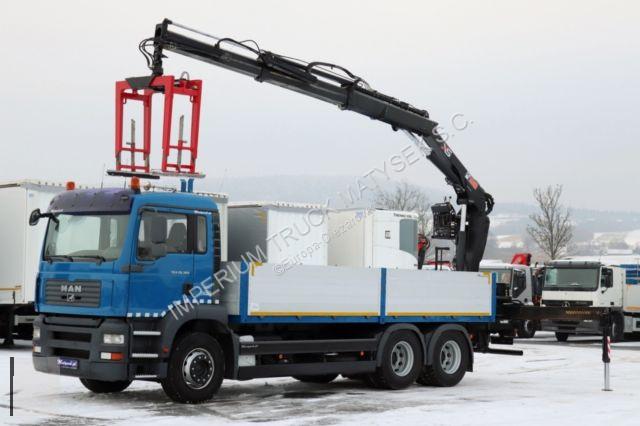 Ciężarówka MAN TGA 26.360 / 6X4 / CRANE HIAB 166/SADDLE/CATCHER