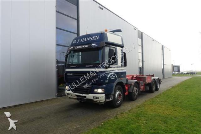 Vrachtwagen DAF CF85.460 8X2 MANUAL HIAB HOOK EURO 3