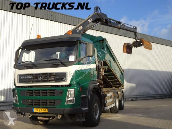 Camión Terberg FM1350 WD, Kipper, Tipper, Hiab 122 D1 Pro Kraan, Crane, Kran