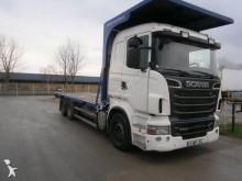 camion piattaforma trasporto paglia Scania