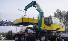 camion Iveco Trakker 440 AD 380 6x6 HMF 2820 CIĄGNIK SIODŁOWY PILOT HDS