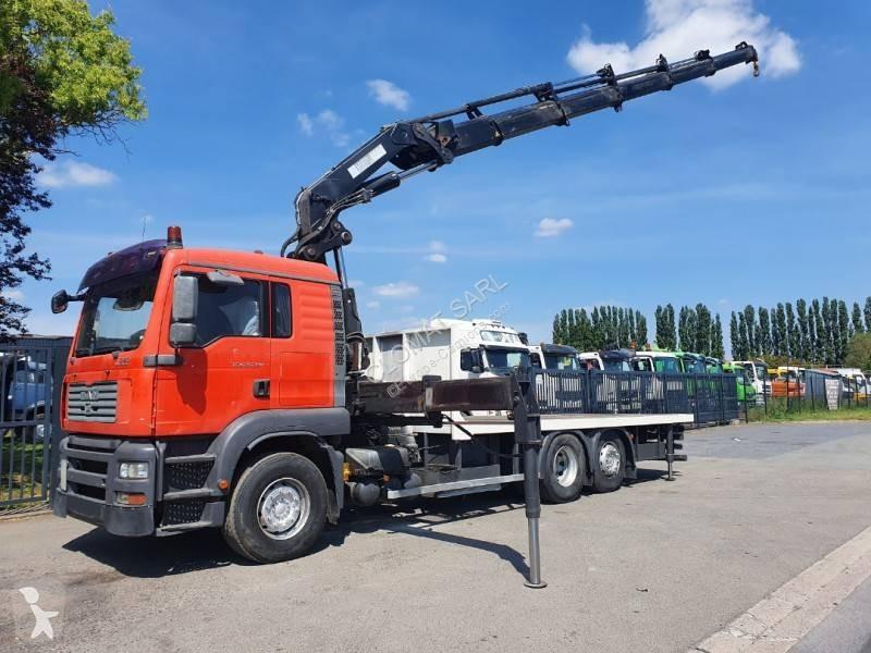 camion man plateau tga 6x2 euro 4 grue occasion n 3027297