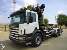 -24h 16 Camión caja abierta Scania G 124G420 2002 487 000 km6x2 - Euro 4 - Grúa