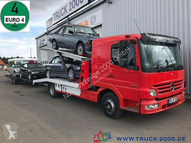 Camion Mercedes 823 Mersch Doppelstock 4 PKW /3 Transporter 1.Hd