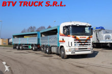 camion Scania R 144 460 MOTRICE CENTINATA + RIMORCHIO