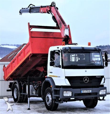 Camion Mercedes Axor 1828 * Kipper 4,65 m + KRAN *Topzustand!