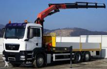 camião MAN TGS 26.400 Pritsche 6.80m+Kran 6x2 Topzustand!