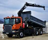 camion Scania P380 Kipper+Bordmatic 5,10m+Kran 6x4Topzustand!