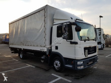 camion MAN TGL 8.220 Pritsche Plane + Spiegel + Ladebordwand / AHK