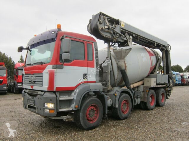 Camion MAN TGA 35.400 8x4 STETTER 9m3 + Theam 14m+4m